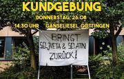 Kommt zur nächsten Kundgebung: Donnerstag, 26.08 | 14.30 Uhr Gänseliesel, Göttingen